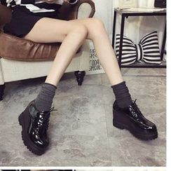 Zandy Shoes(ザンディシューズ) - Platform Wedge Oxfords