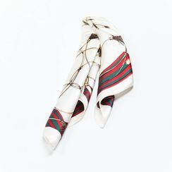 MAKA - 圖案真絲領巾
