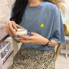Miggras - 刺繡短袖T裇