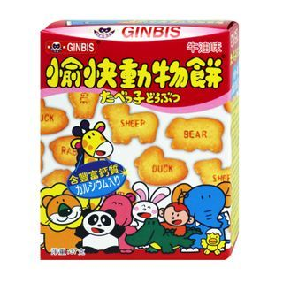 Three O'Clock - Ginbis Animal Biscuits Butter Flavor 37g
