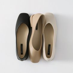 HOTPING - Square-Toe Plain Flats