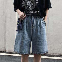 Banash(バナッシュ) - Wide Leg Denim Shorts