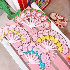 Yunikon - Pig Print Hand Fan