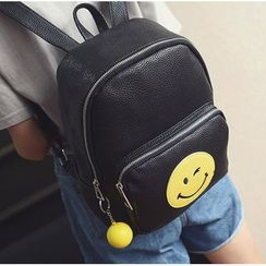 Aishang - Smiley Face Applique Backpack