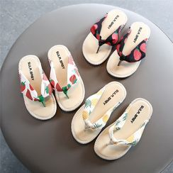 Doradas - Kids Fruit-Print Flat Thong Sandals