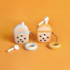 Milk Maid - Bubble Milk Tea Print Airpods Earphone Case Protection Cover