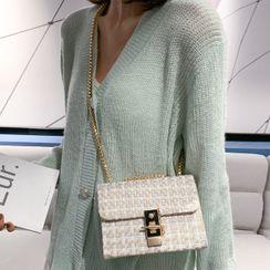 Road to Love - Tweed Crossbody Bag