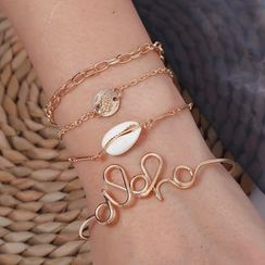 Yeoleum - Set: Shell / Alloy Bracelet / Bangle (assorted designs)