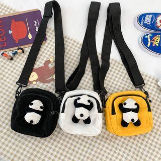 Sacculi - Panda-Doll Canvas Crossbody Bag