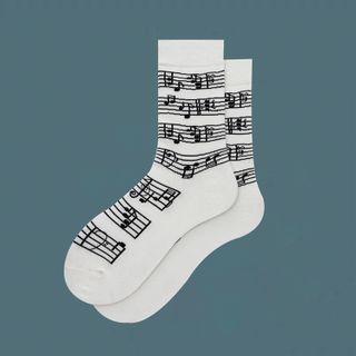 ASAIDA - 音符印花襪子