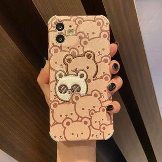 Huella - 熊刺绣手机壳For iPhone SE / 7 / 7 Plus / 8 / 8 Plus / X / XS / XR / XS Max / 11 / 11 Pro / 12 Mini / 12 / 12 Pro / 12 Pro Max