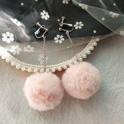 Kiksuya - Pom Pom Earring / Clip-On Earring