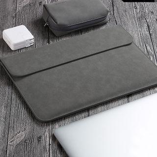 BAGGEST - Set: Faux Suede Laptop Sleeve + Zip Pouch