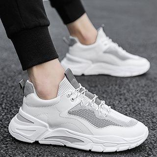 JACIN - Mesh Panel Chunky Sneakers