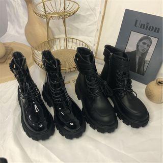 Fastir - Platform Lace-Up Short Boots