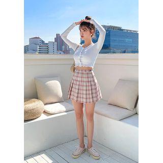 chuu(チュー) - -5 Youth Plaid Pleat Miniskirt vol.15