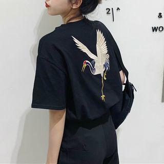 Moon City - 刺繡短袖T裇