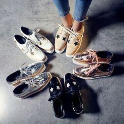 安若 - 厚底星星牛津鞋