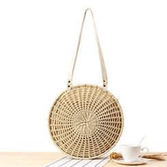 STYLE CICI - Woven Round Shoulder Bag