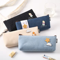 Class 302 - Pin-Accent Canvas Pencil Case