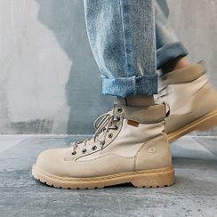 Scherokee - Plain Lace-Up Short Boots