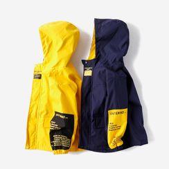Happy Go Lucky - Kids Color Block Hooded Zip Jacket
