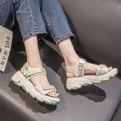 Weiya - Platform Adhesive Strap Sandals