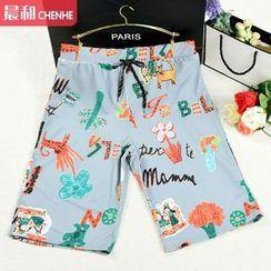 Morning Dew - Printed Swim Shorts