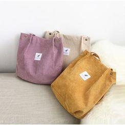 EIGA - Applique Corduroy Tote Bag