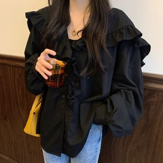 Ashlee - 荷叶衬衫