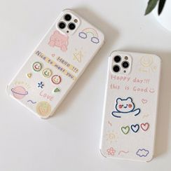 Mobby - Embroidered Bear Phone Case - iPhone 11 Pro Max / 11 Pro / 11 / SE / XS Max / XS / XR / X / SE 2 / 8 / 8 Plus / 7 / 7 Plus