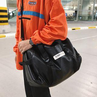 DragonRoad - Applique Faux Leather Carryall Bag
