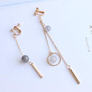 Joodii - Non-matching Bead & Bar Dangle Earring  (Various Designs)