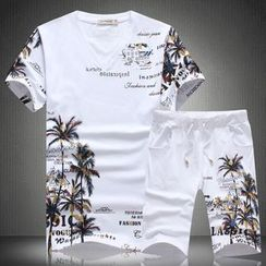 Andrei - Set: Short-Sleeve Print T-Shirt + Sweatshorts