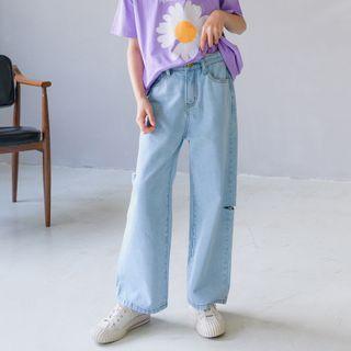 Cynanne - Kids Cutout Straight-Fit Jeans