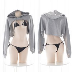 seven&3 - Lingerie Cropped Hoodie