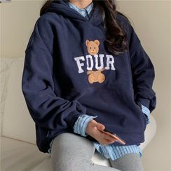 Honey River - Bear Embroidered Hoodie