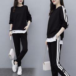 Ayibu - 套裝: 條紋套衫 + 運動褲