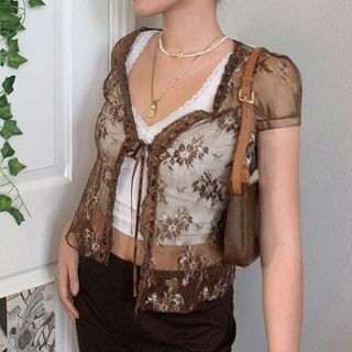 Sosana - 短袖蕾絲上衣