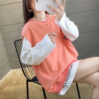 Iduna(イデュナ) - Mock Two-Piece Long-Sleeve Pullover