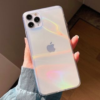 OUROBA - Holographic Transparent Phone Case - iPhone 12 Pro Max / 12 Pro / 12 / 12 mini / 11 Pro Max / 11 Pro / 11 / SE / XS Max / XS / XR / X / SE 2 / 8 / 8 Plus / 7 / 7 Plus