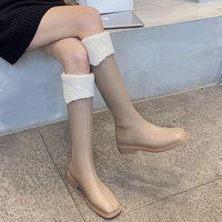 EPIO - Platform Furry Panel Tall Boots