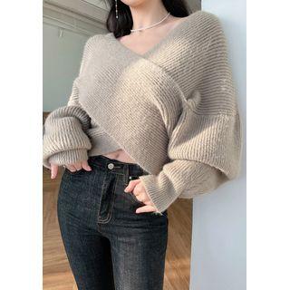 chuu - Criss-Cross Front Woolen Sweater