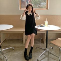 FROMBEGINNING - Sleeveless A-Line Minidress