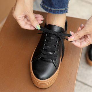 CLICK - Platform Cowhide Sneakers