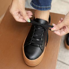 CLICK(クリック) - Platform Cowhide Sneakers