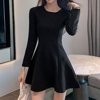 Donnae - Long-Sleeve Mini A-Line Dress