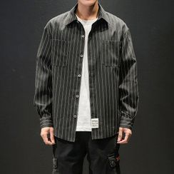Moarit - Pinstriped Long-Sleeve Shirt