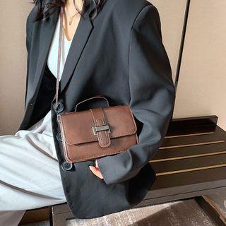 mizandrus - Top Handle Plain Flap Crossbody Bag