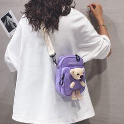 Little Days - Bear Canvas Crossbody Bag
